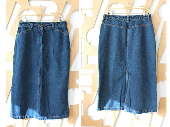 9a21a02a7a0 Denim skirt Long skirt Pencil skirt High Waist skirt Maxi
