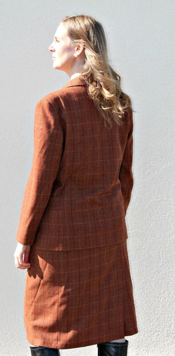 Vintage 80s Wool suit Vintage jacket Tweed jacket… - image 3
