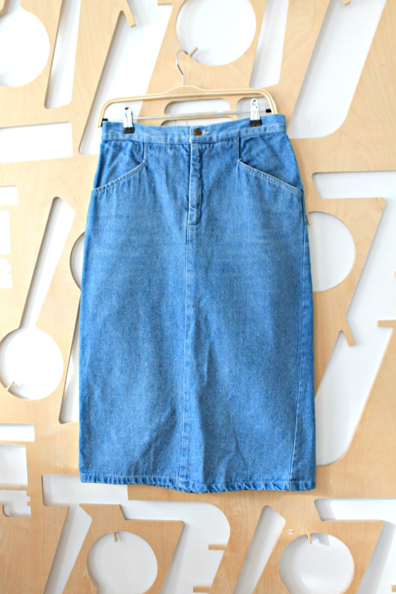 22cc07bc13e Denim skirt Pencil skirt Cotton skirt Long Skirt High Waisted