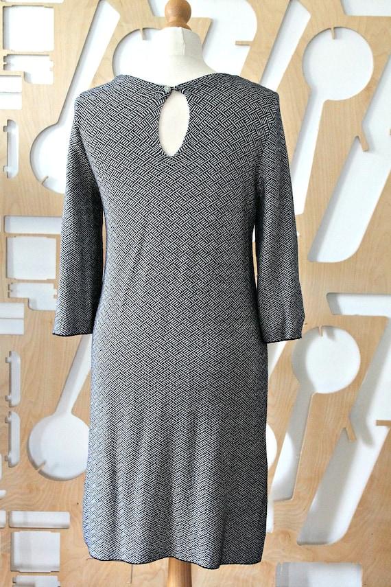 Winter dress Knit dress Bodycon dress Japanese dress Midi dress Office dress Knee Length Dress Preppy Wool tunic Boho Hippie Sashiko Casual