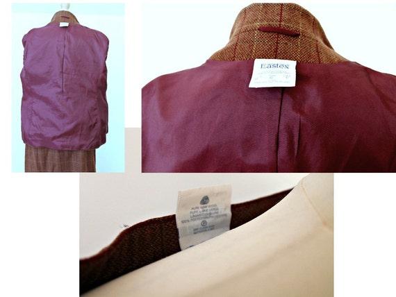 Vintage 80s Wool suit Vintage jacket Tweed jacket… - image 4