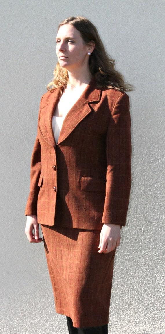 Vintage 80s Wool suit Vintage jacket Tweed jacket… - image 2