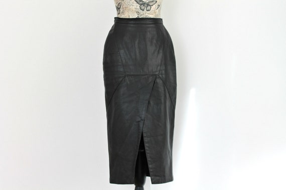 c65f92c14bc Vintage Leather skirt Long Skirt High waisted skirt Goth