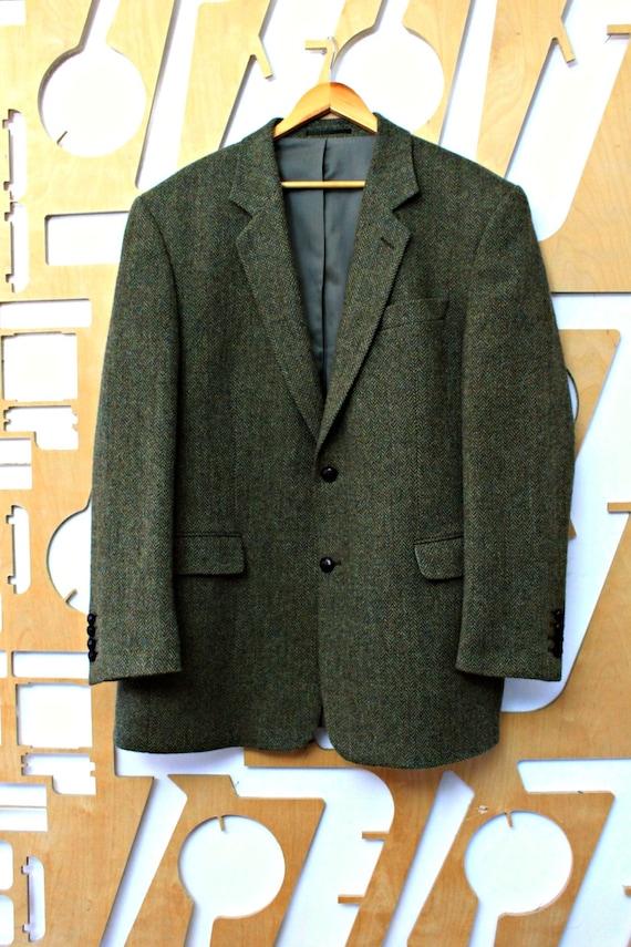 Vintage jacket Tweed jacket Large size Wool jacket