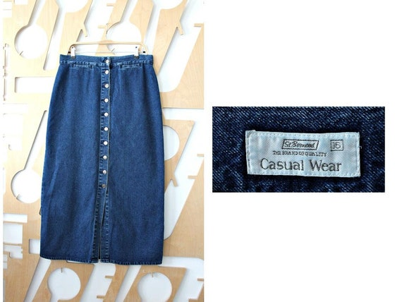 8d5d9b76247 Denim skirt High waisted skirt Long skirt Maxi skirt Button up