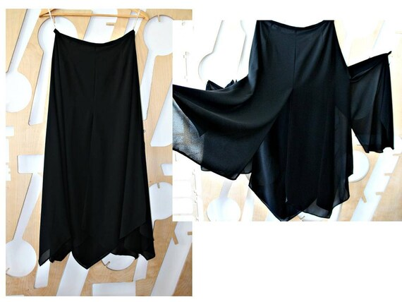 a4ff6c5171a Black Skirt Chiffon skirt Split Maxi skirt Long skirt