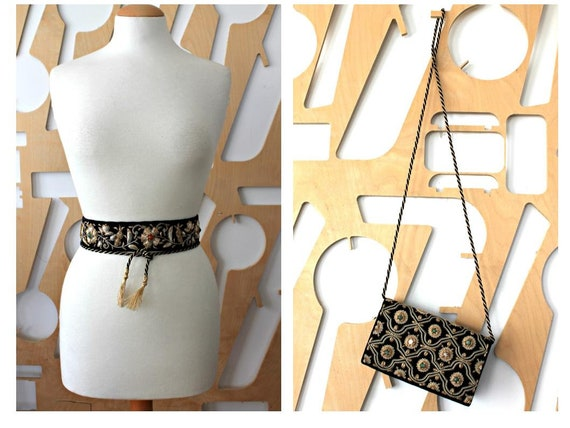 Belt and bag Evening bag Wrap belt Obi belt Formal
