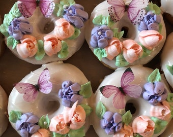 36 Edible Butterflies, Ombre 3D Double-Sided Wafer Paper Toppers for Cakes, Cupcakes, Cookies or Drinks