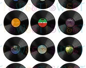 Edible Vinyl Record Cupcake, Cookie, Oreo or Drink Toppers - Wafer Paper or Frosting Sheet