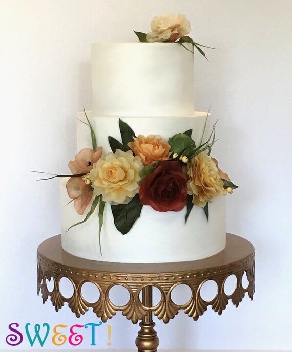 Edible Wafer Paper Flower Arrangements For Cakes By Lynda Christine