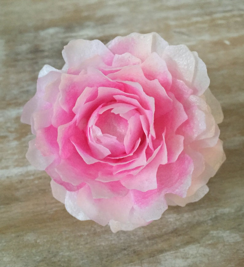 Edible Peonies Wafer Paper Flowers for Cakes  Bomb image 0