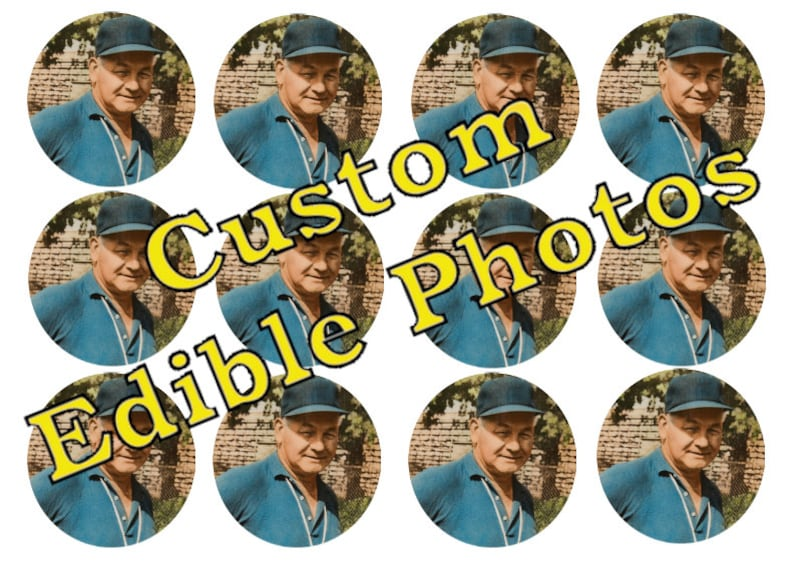 Edible Photos for Cakes Cupcakes Cookies or Drinks  Wafer image 0