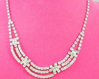 Rhinestone Bridal Wedding Necklace