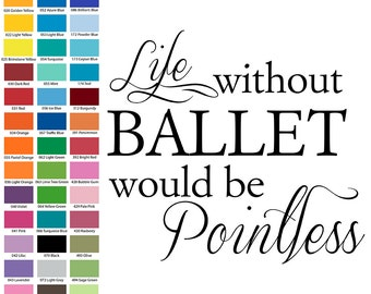 Life without ballet would be pointless
