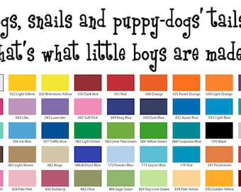 Frogs Snails And Puppy Dog Tails Little Boys Are Made Of.. Wall Quote
