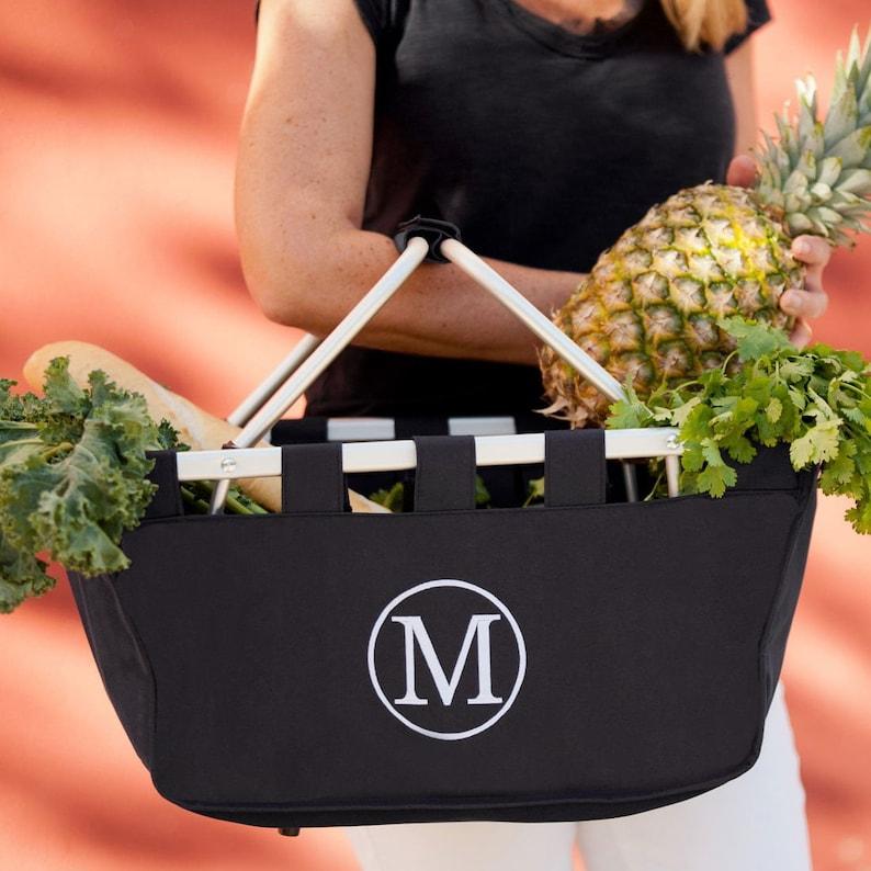 Large  Monogrammed Market Tote Monogrammed Market Basket Personalized Basket Monogrammed Basket Easter Basket Personalized Easter Basket