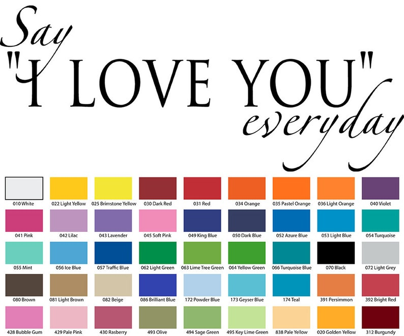 Say I Love You Everyday Wall Quote