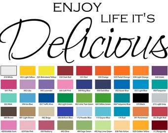 Enjoy Life It's Delicious Wall Quote