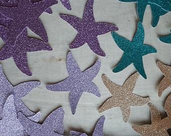 50 Starfish Confetti Beach Wedding Under the Sea Party Decorations Mermaid Decor No425