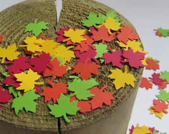 Thanksgiving confetti, maple leaves confetti, leaves die cuts, paper maple leaves, red maple leave, fall party confetti, maple leave cut out
