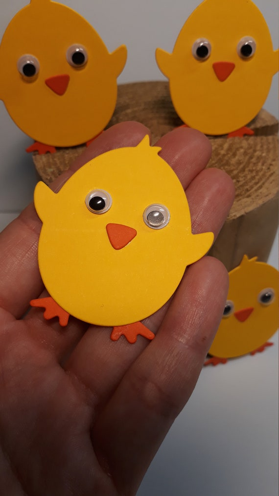 16 piezas Easter Chick Pico Y Pies Para Niños Modelismo Manualidades