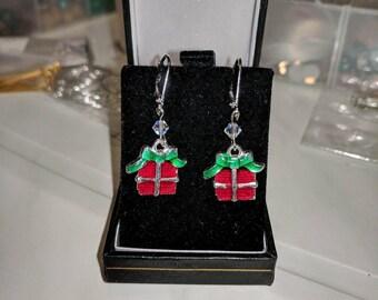 Christmas gifts, present earrings, Xmas gifts, gifts for her, xmas present earrings, Xmas jewellery, christmas jewellery, stocking stuffers