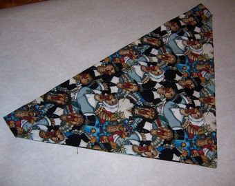 Funny turkey patterened Dog Bandana