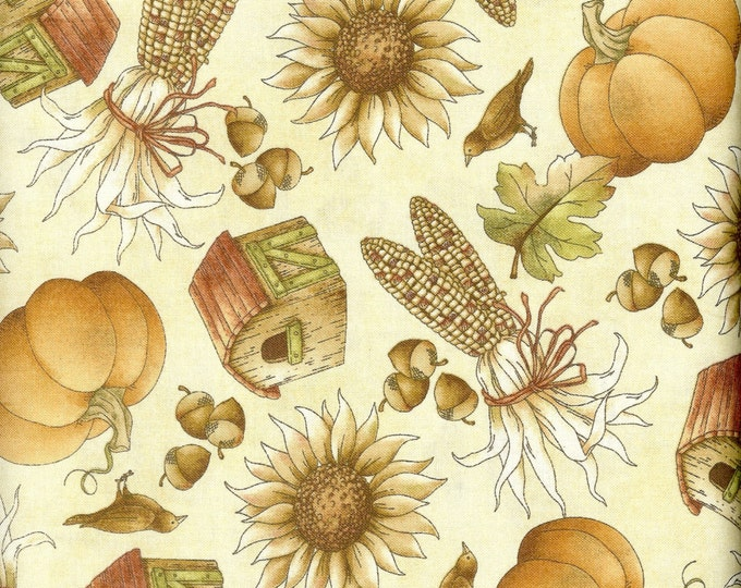 Fall Harvest 100% cotton fabric, sold by the yard  #201