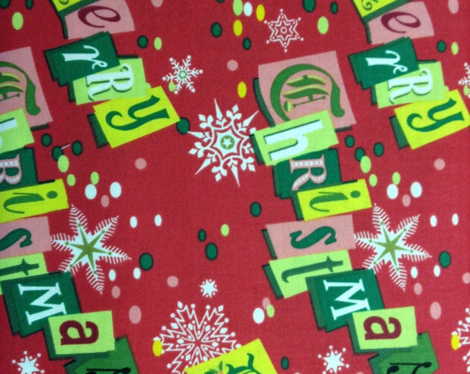 Retro Christmas 100% cotton fabric, sold by the yard   #403