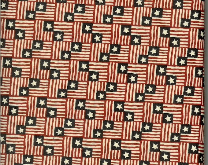 Small flags 100% cotton fabric, sold by the yard   #69
