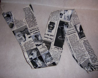 Cat newspaper print, fabric stethoscope cover