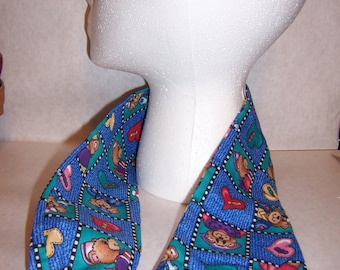 Checkered bear and heart pattern, printed stethoscope cover.
