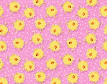 Crazy Chicks 100% cotton fabric, sold by the yard   #495