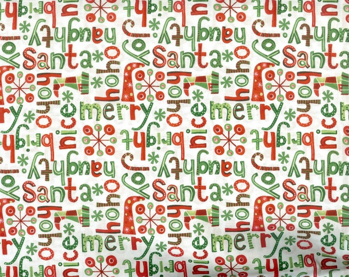 Naughty or Nice 100% cotton fabric, sold by the yard  #193