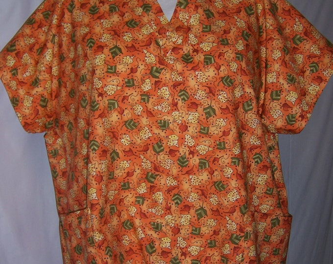 Halloween/ Fall themed scrub top
