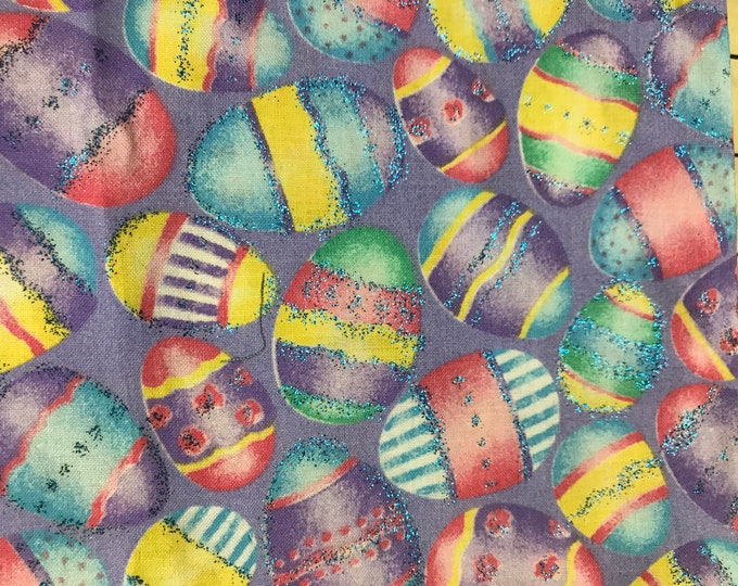 Glitter Packed Eggs 100% cotton fabric sold by ( multiple lengths)