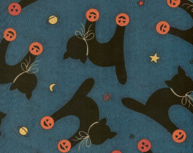 Black Cats  cotton fabric-sold by ( multiple lengths)  #94