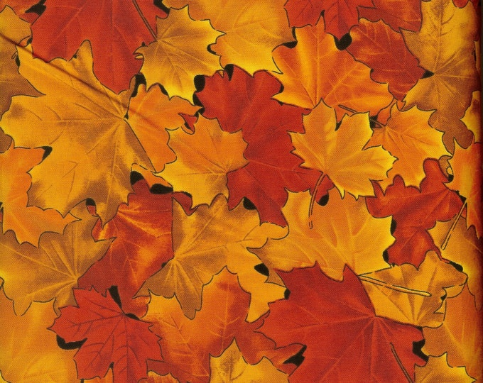 Fall's Beauty cotton fabric- sold by ( multiple lengths)  #199