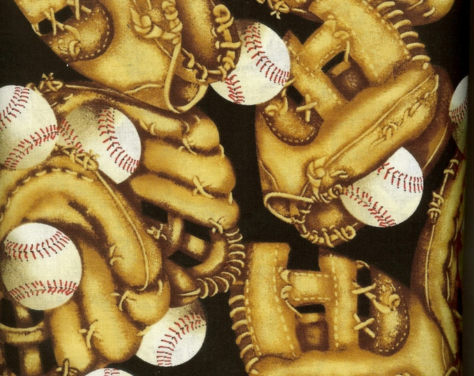 Baseball Time 100% cotton fabric, sold by the yard  #223