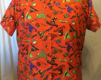 Halloween Delight scrub top