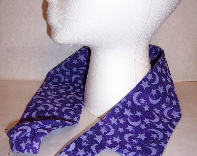 Purple moons and stars, fabric stethoscope cover