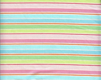 Spring Stripe 100% cotton fabric-sold by the yard   #16