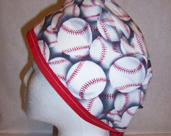 Baseball fabric surgical cap