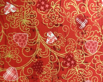 Love Song 100% cotton fabric-sold by the yard  #389