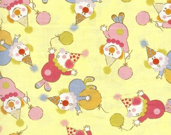 Clowns, 100% cotton fabric, sold by the yard   #147
