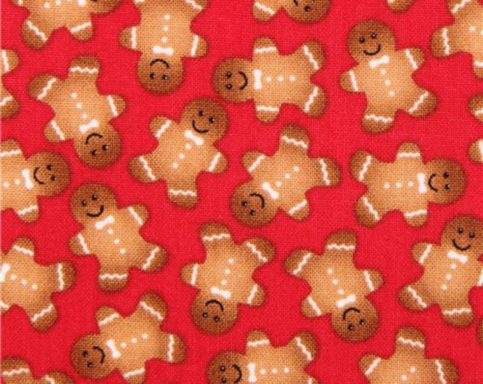 Gingerbread man 100% cotton fabric, sold by the yard  #484