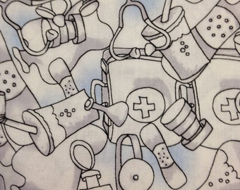 Medical stuff 100% cotton fabric, sold by the yard   #441