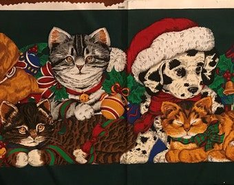 Christmas cat and dog pillow kit