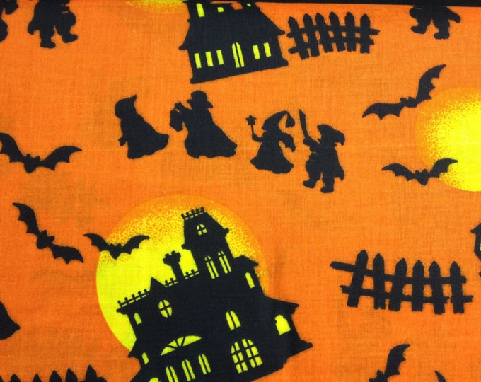 Haunted Houses fabric- sold by the yard   #367
