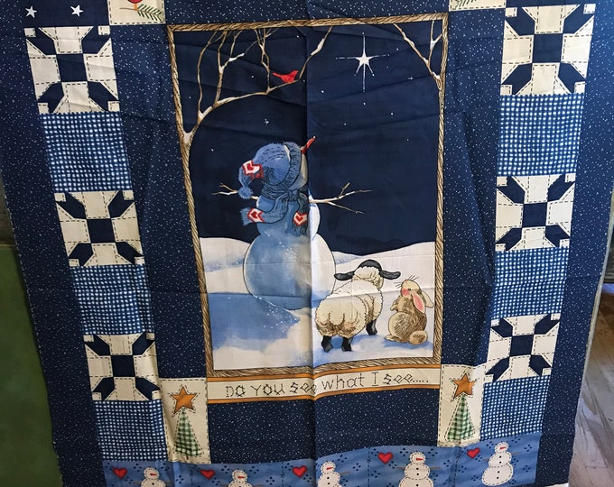 Do You See What I See Quilt panel